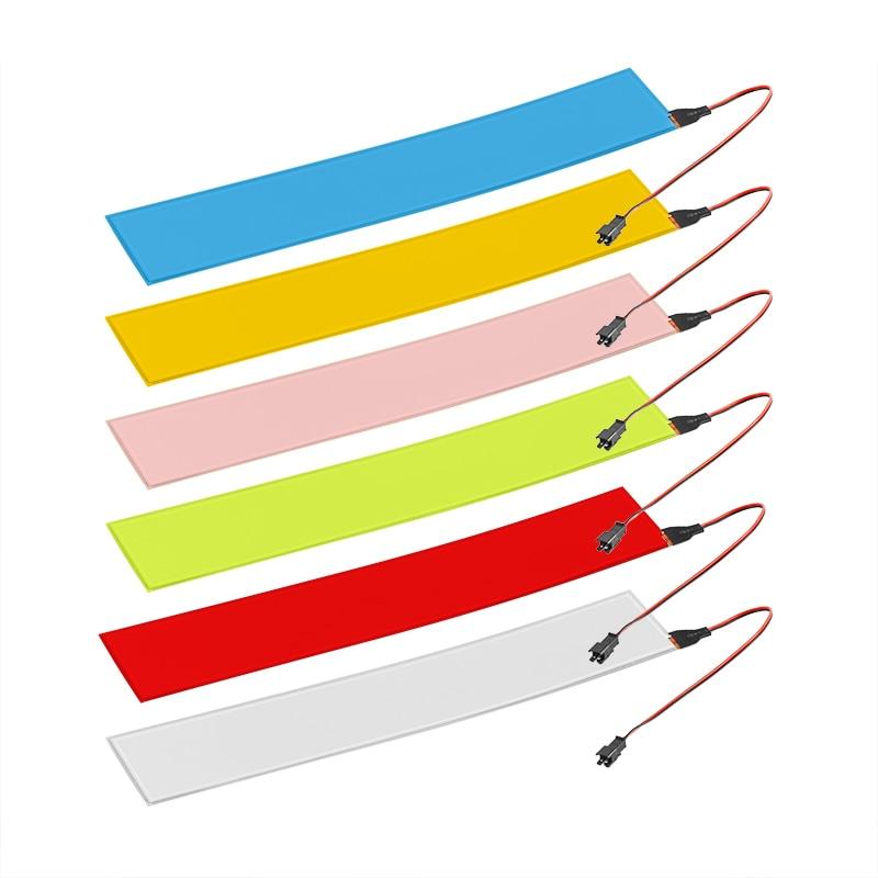 12V Flexible EL panneau lumineux électroluminescent rétro-éclairage bande lampe avec inverseur 30x5cm accessoires de voiture pour la fête de voiture à la maison