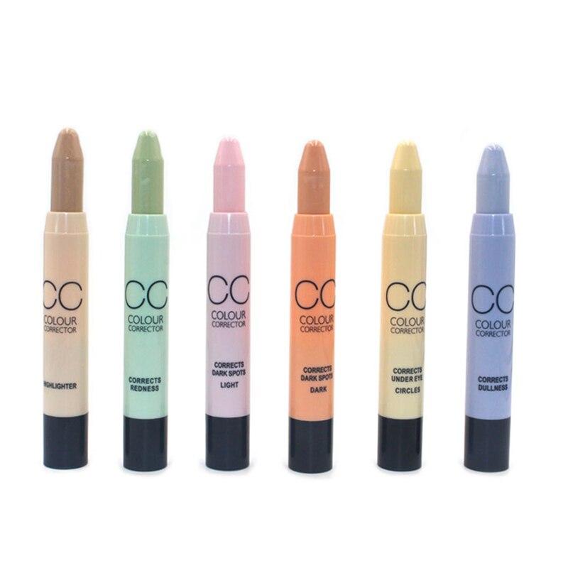 CC, Corrector de Color, rotativo automático, Lápiz Corrector, lápiz, paleta de camuflaje para puntos de círculo oscuro, acné, maquillaje para el cuidado Facial