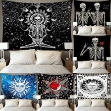 Offre spéciale Mandala crâne imprimé tenture murale tapisserie plage couverture pique-nique Yoga tapis Home Art pour la décoration de salon
