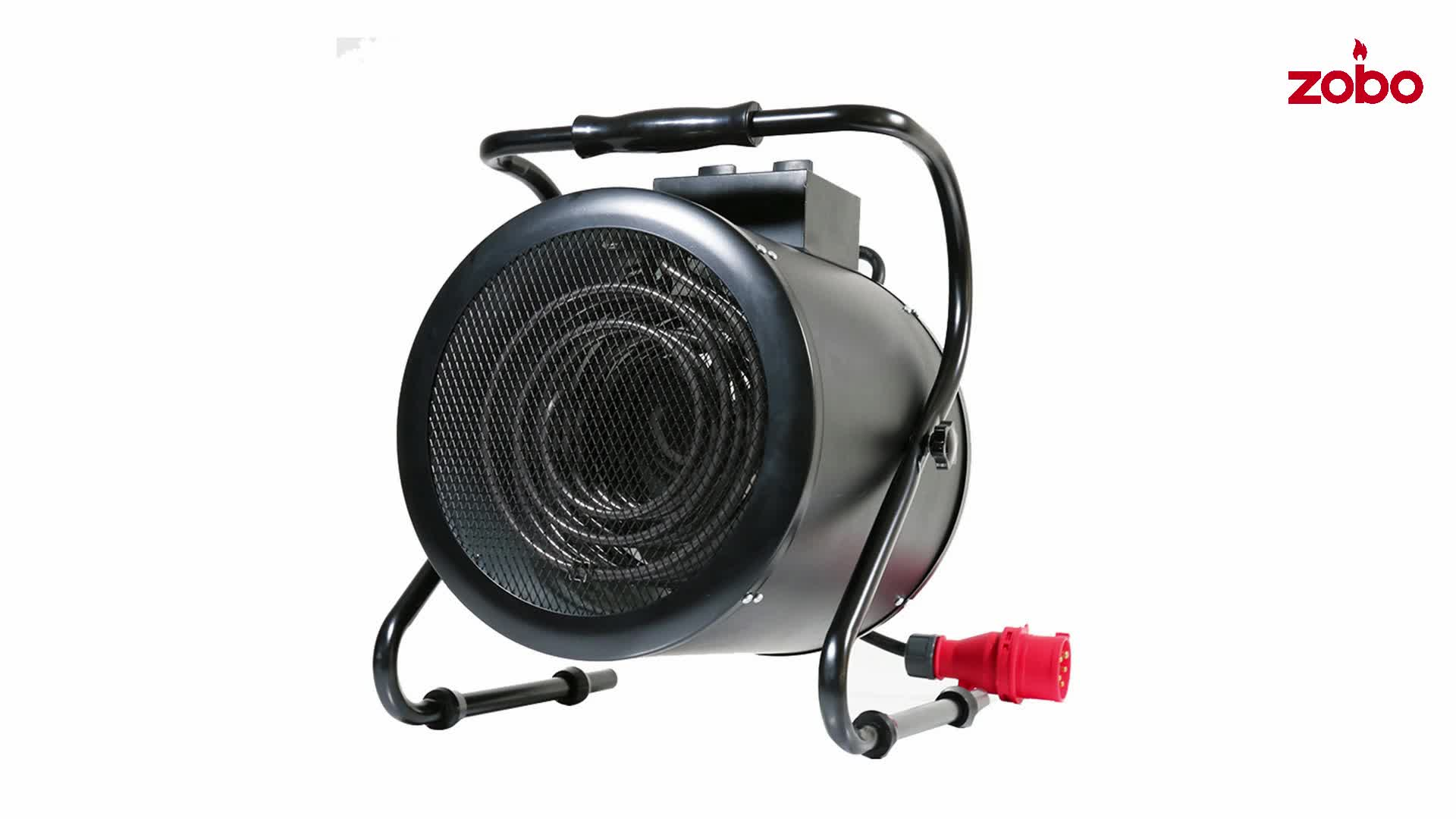 ماكس 9000 واط التدفئة الناتج تدفق الهواء الكبير المحمولة سخان مروحة كهربائية s heter سخان مروحة كهربائية مع حماية من الحرارة الزائدة