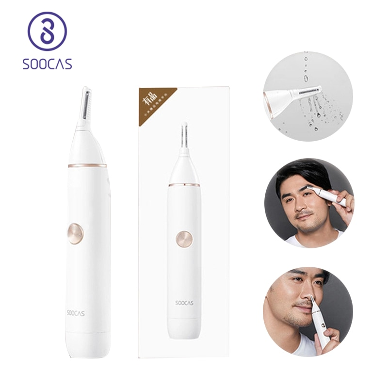 SOOCAS N1 Electric Nose hair trimmer Mini Portable Ear Nose Hair Shaver Waterproof Safe Cleaner Tool