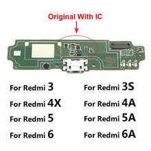 USB порт для зарядки, соединительная плата, гибкий кабель с микрофоном, микрофон для Xiaomi Redmi 5A 4A 4X 3 3S 6 6A 7 7A