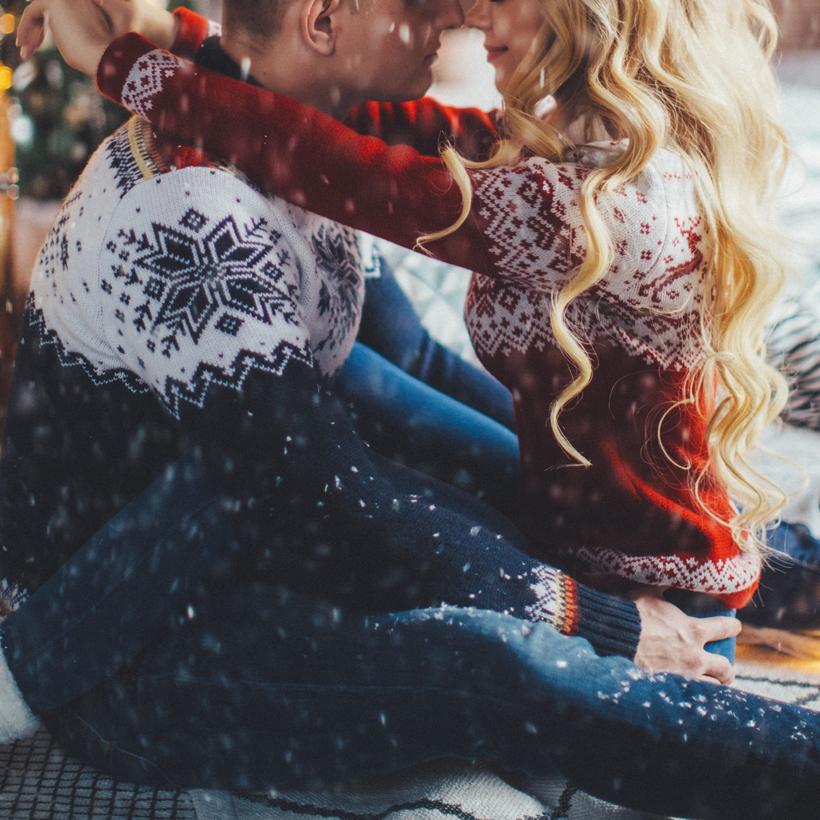 Женский свитер мужской свитер Рождественский вязаный свитер для пары Свитер оверсайз для осени и зимы 2021