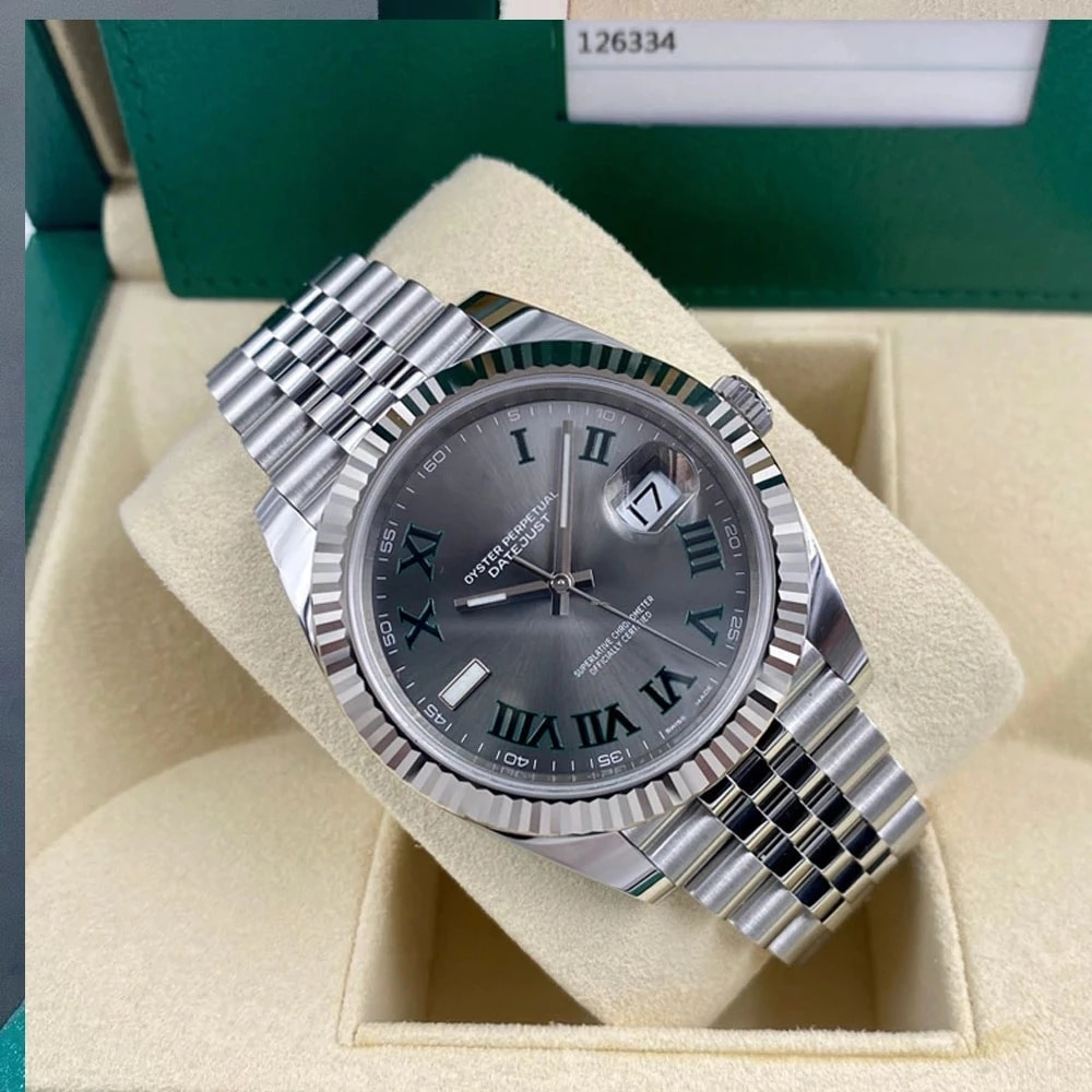 Luxury Mens Watch Mechanical 41mm Sapphire Jubbile Bracelet Watches Green Rome Datejust Automatic eta2813 Movement Wristwatches