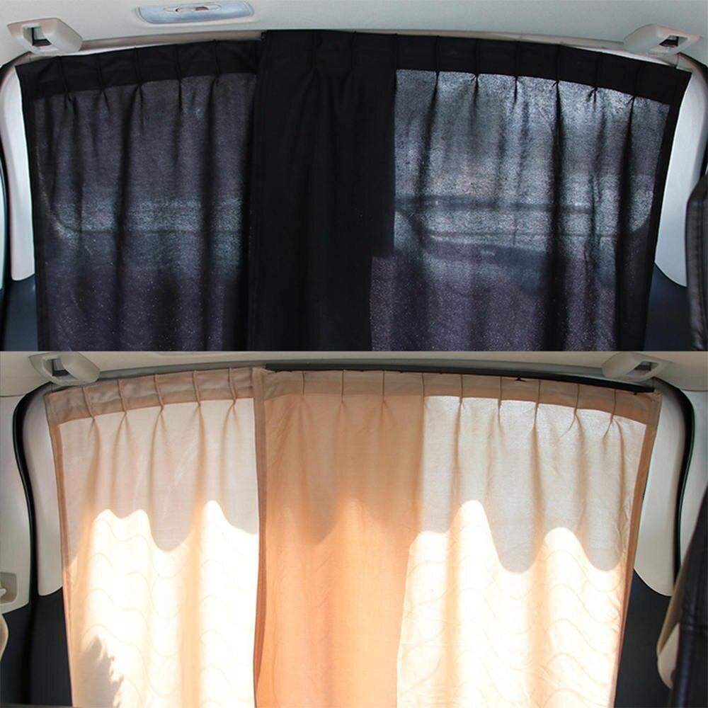 2Pcs Universal Luxury VIP Car Van SUV Window Curtain UV Sunshade Visor Kit Rear Window Sunshade Car Accessories