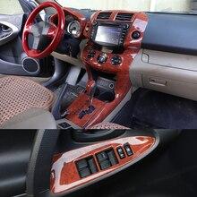 Lsrtw2017 لون الخشب لوحة تروس السيارة لوحة تنفيس الإطار غطاء النافذة لتويوتا Rav4 2006 2007 2008 2009 2010 2011 2012 2013