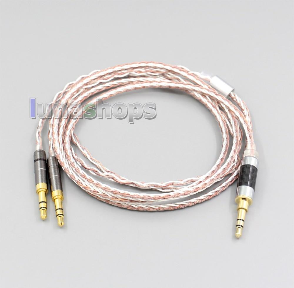 LN005467 800 cables suave plata + OCC aleación AFT auricular Cable para Beyerdynamic T1 T5P