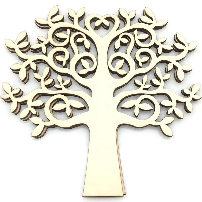 10 шт. деревянное семейное дерево для crfings дерево жизнь в форме сердца Ремесло принадлежности дерево ремесло 15 см
