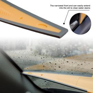 Image 5 - Длинный мягкий резиновый скребок FOSHIO, скребок из углеродного волокна для обмотки автомобильных виниловых пленок, инструмент для очистки окон и стекол, инструмент для удаления воды