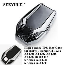 SEEYULE étui à clés pour BMW   En TPU, accessoires pour BMW 5 6 7 G11 G30 G31 G32 i8 I12 I15 X3 G01 X4 G02 X5 G05 X7 G07