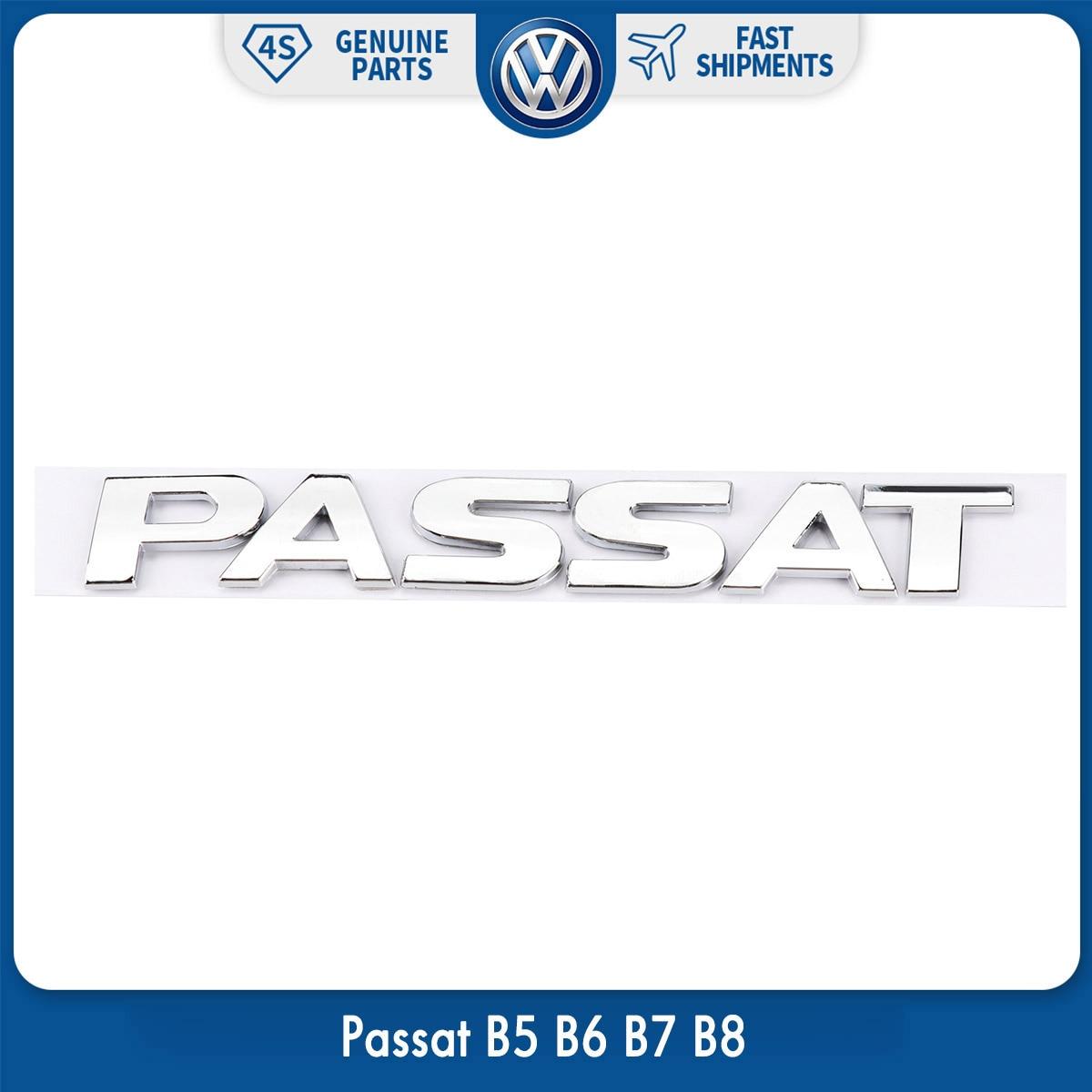 OEM Original Rear Trunk Lid Chrome Silver Emblem Sticker Passat for VW Volkswagen Passat B5 B6 B7 B8