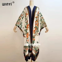 middle east sunmer women cardigan stitch open 2021 long dress cocktail party boho maxi african holiday batwing sleeve silk robe