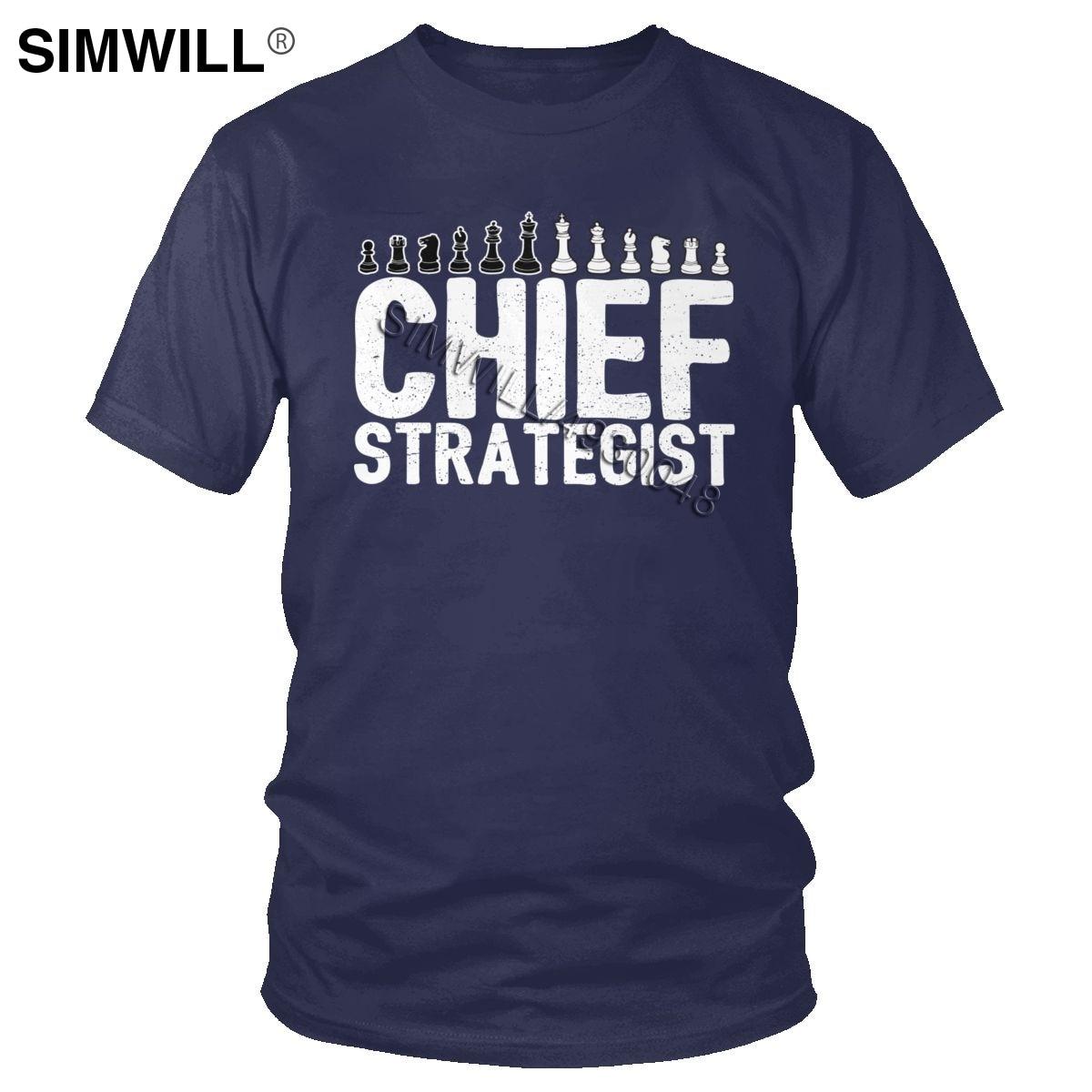 Camisetas de algodón para hombres, camiseta de máster de Ajedrez de Strategist, de manga corta, Rey reina, 60s, juego de mesa, Fan Player, camiseta de regalo de Club de ajedrez