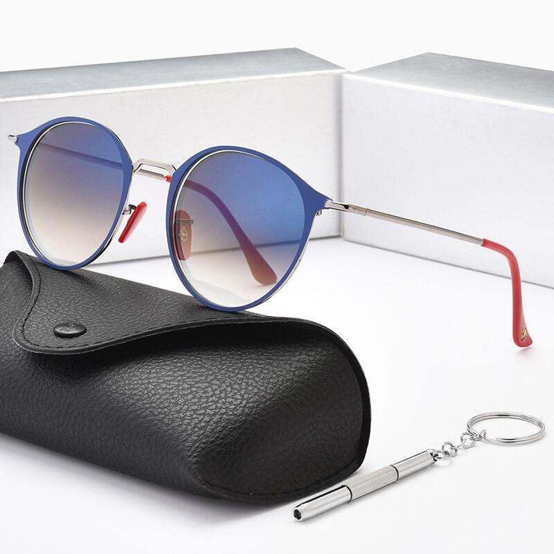 Men Classic Polarized Round Sunglasses for Women Retro Outdoor Gradient Designer Driving Unisex UV40