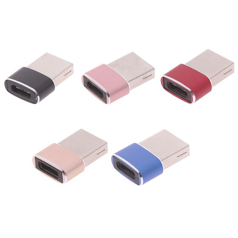 USB macho a USB tipo C hembra OTG Adaptador convertidor tipo-c Cable...