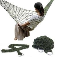 Portable Garden Nylon Hammock swing Hang Mesh Net Sleeping Bed hamaca for Outdoor Travel Camping hamak blue green red hammock