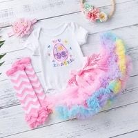 4 pieces baby girl clothes set girls first birthaday clothes chic tutu skirts suits for newborns summer infant ball gown outfits