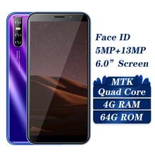 S6 Face id débloqué 6.0 Smartphones plein écran 13MP Version globale 4GB RAM 64GB ROM téléphones mobiles Android téléphones portables Celulars