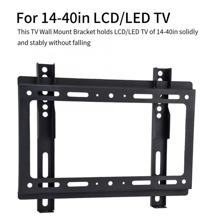 Soporte de montaje en pared para TV inclinable inteligente para TV inclinable de 14-40 pulgadas LCD/LED TV de hasta 55 capacidad de carga LBS soporte de montaje en pared para TV