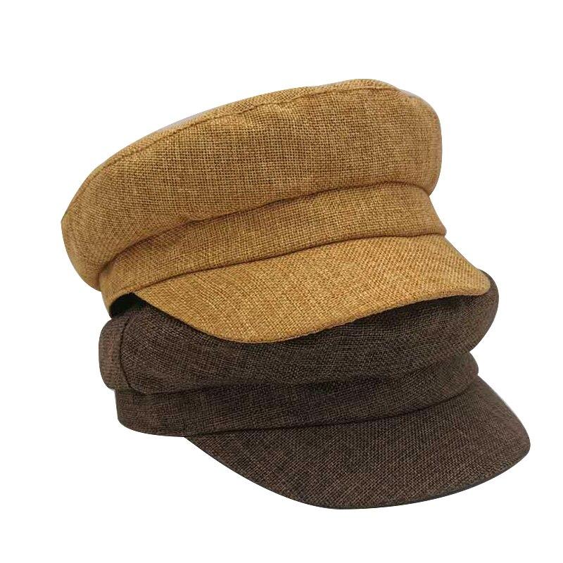 Новая весенняя модная женская зимняя тёплая черная Ретро кепка газетчика Военная восьмиугольная кепка женские кепки с козырьком