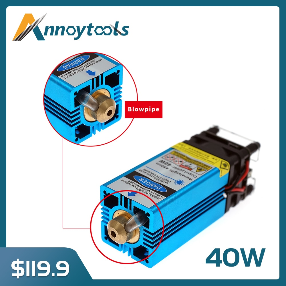 40W Laser Head CNC3018 PLUS Engraving Machine Blue Light Laser Module for Cutting Plywood and Metal Engraving