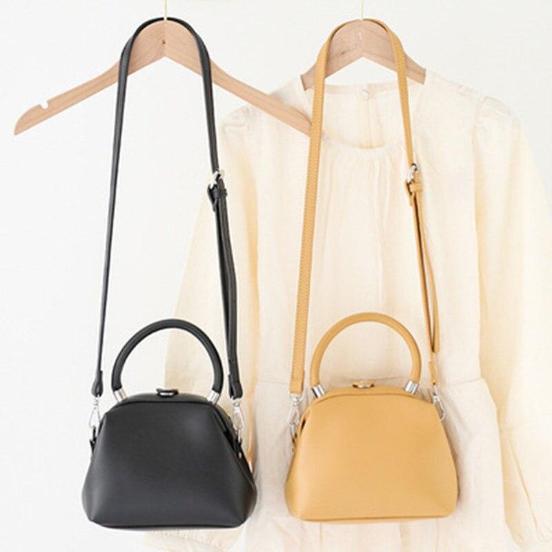2021 المرأة حقيبة يد قبلة قفل بولي Leather الجلود كليب حقائب الإناث الرجعية حقيبة كتف سيدة محفظة مكافحة سرقة الجلود رسول حقائب اليد