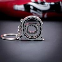 mazda spinning rotor keychain car fans favorite auto parts model engine rotary keyring key ring meticulous exquisite gift