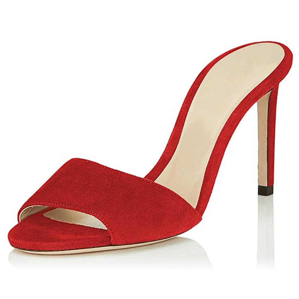 Lovirs المرأة رقيقة كعب المفتوحة تو الأساسية Slingback ليوبارد الصنادل 10 سنتيمتر أحذية عالية الكعب فستان البغال أحذية حجم كبير 5-15