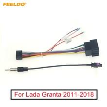 FEELDO voiture stéréo Audio 16PIN Android câble dalimentation adaptateur pour Lada Granta 2011-2018 CD/DVD lecteur faisceau de câblage