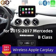 Sinairyu Wifi inalámbrico Carplay coche jugar Android Auto espejo Retrofit para Mercedes Clase B W246 NTG 5,1, 5,2 de 5,5 La cámara de marcha atrás