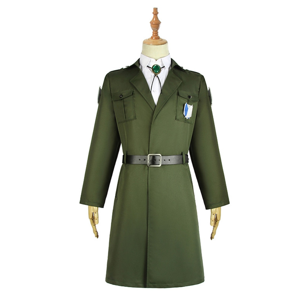 Attack on Titan Mikasa Cosplay Costume Scouting Legion Trench Coat Uniform Halloween Carnival Costumes