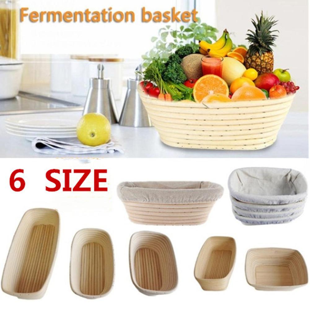 Metermall assar cesta seca forma oval rattan banneton cesta pão massa provando brotform tigela