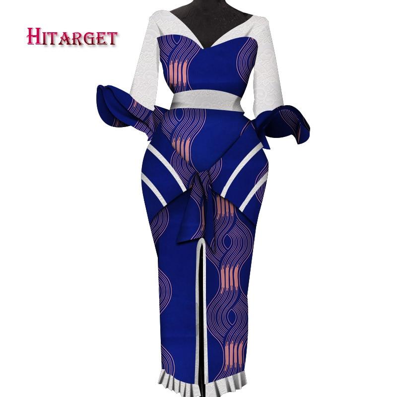 Hitarget 2019 New African women dashiki Sexy Dresses for Women ankara wax Print Dress party dress WY4993