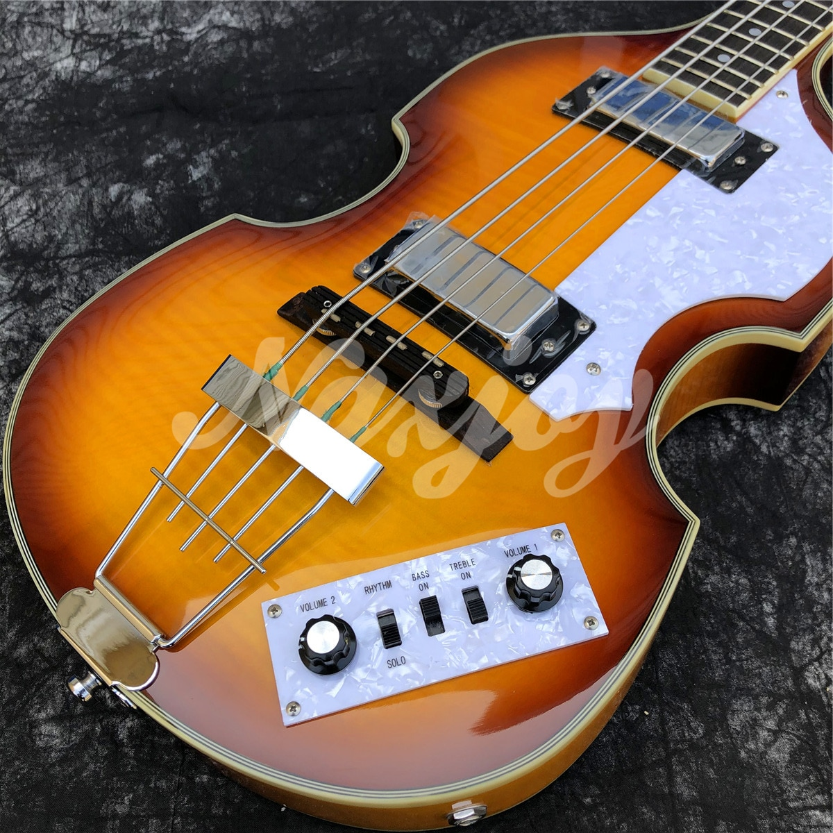 Hofner 4 Strings Electric Bass Sunbrust Flame Maple Hollow Body Vintage CT Violin BB2 Electric Bass Guitar enlarge