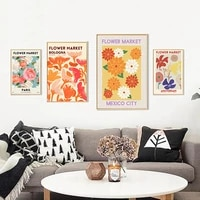 home decoration canvas painting flowers clusters european style small fresh posters modern girls bedroom decoration