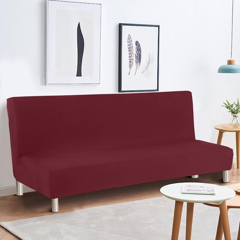 Armless أريكة سرير غطاء أريكة غطاء لا مساند ذراع تمتد دنة أريكة يغطي ل غرفة الرقص مرونة Armless كرسي طويل يغطي