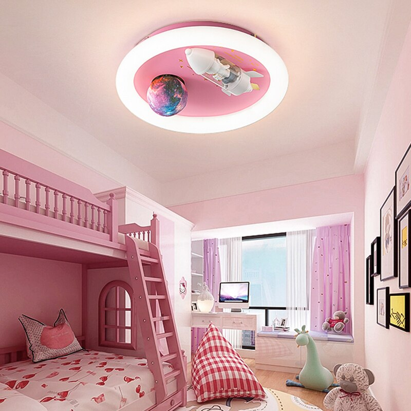 Lámpara led inteligente para decoración del hogar, luces de techo regulable de estilo nórdico para salón y dormitorio de niñas, iluminación interior