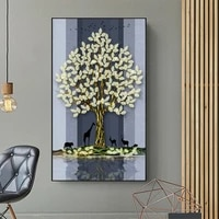 modern abstract animals plant leaves printed canvas posters fortune tree elk landscape painting home wall art decoration