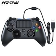 Mpow PS4 contrôleur de jeu USB filaire manette Multiple manette Vibration poignée 2M câble manette pour iPhone iPad PC pour PS4/PS3
