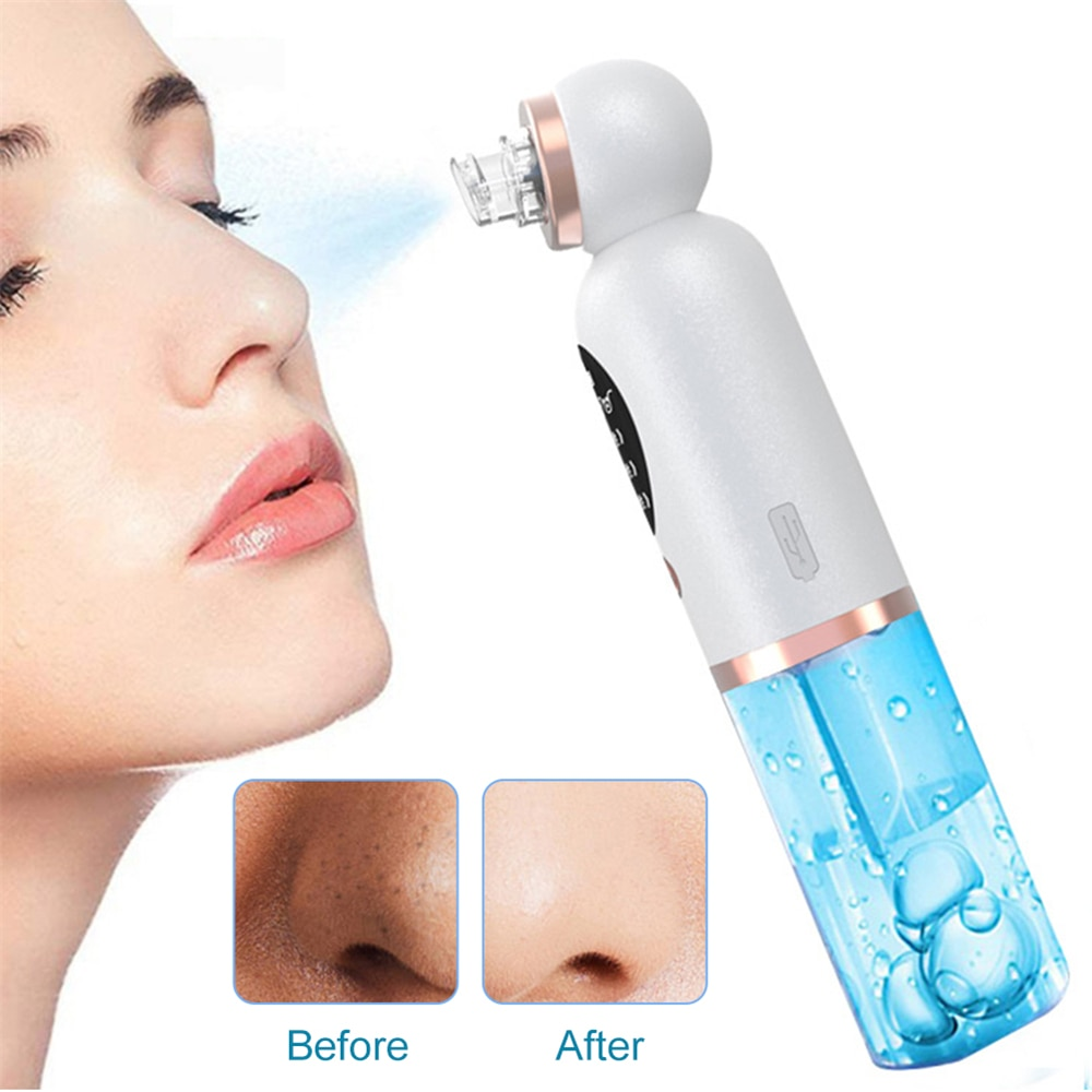 Electric Small Bubble Blackhead Remover USB Rechargeable Water Cycle Pore Acne Pimple Removal Vacuum Suction Facial Cleaner Tool