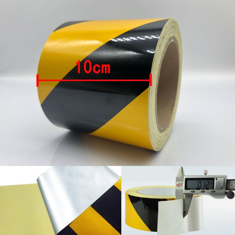 Self-Adhesive Reflective Safety Warning Tape Road Traffic Construction Site Reflective Tape недорого