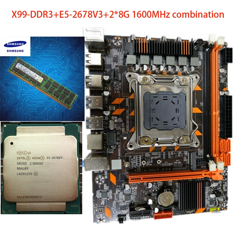 La nueva placa base de ordenador X99 DDR3/DDR4 memoria de doble canal LGA2011 pin admite E5V3CPU