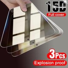Protector de pantalla de vidrio templado para Samsung A50, A70, A71, A51, A80, A90, A20, A30, A10, A20E, 3 unidades