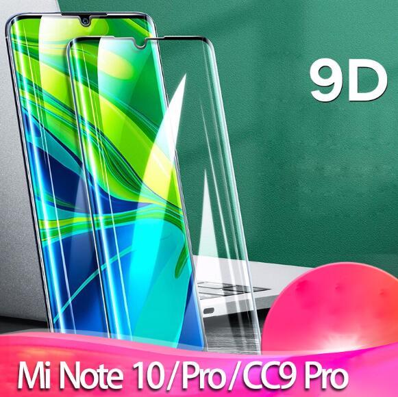 Vidrio templado para Mi Note 10 (mi cc9 pro) Protector de pantalla de cristal Protector completo para Xiaomi note 10 Redmi Not 8 8t 10 Mi