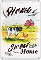 Maison rustique douce maison ferme animaux metal signes en etain maison douce maison