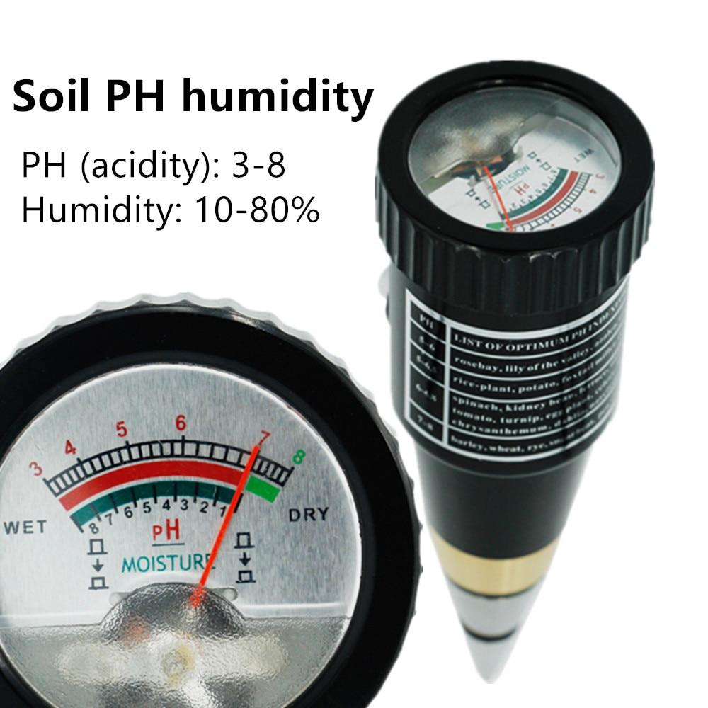 2 en 1 puntero multifuncional tipo humedad del suelo y medidor de ph rango de PH 3 88ph Analizador de hidroponía para jardín planta flor 40% de descuento