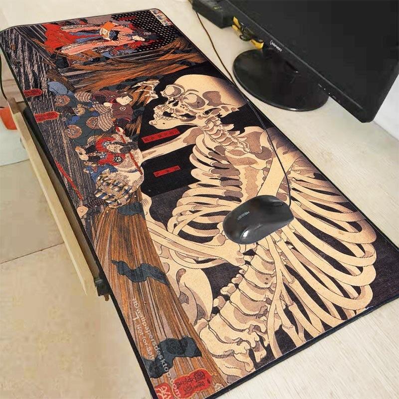XGZ Japan Anime Kunst Schädel Große Größe Mousepad Spiel Gamer PC Computer Gaming Tastatur Maus Pad Weichen Tisch Matte für CSGO DOTA LOL