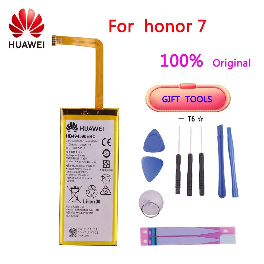 AliExpress - 100% Original HB494590EBC 3000mAh Rechargeable For Huawei Honor 7 Glory PLK-TL01H ATH-AL00 PLK-AL10 Battery