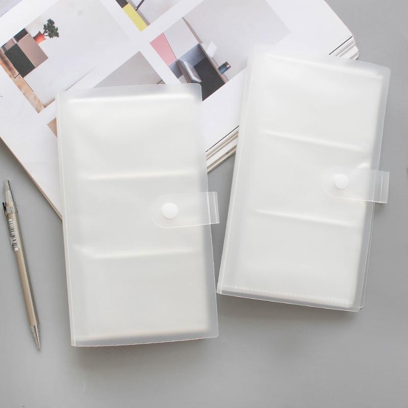 Прозрачный бизнес-альбом для визитных карточек, офисный Футляр для карт для мужчин и женщин, бумажник для карт, 120 пластиковых книг для хране...