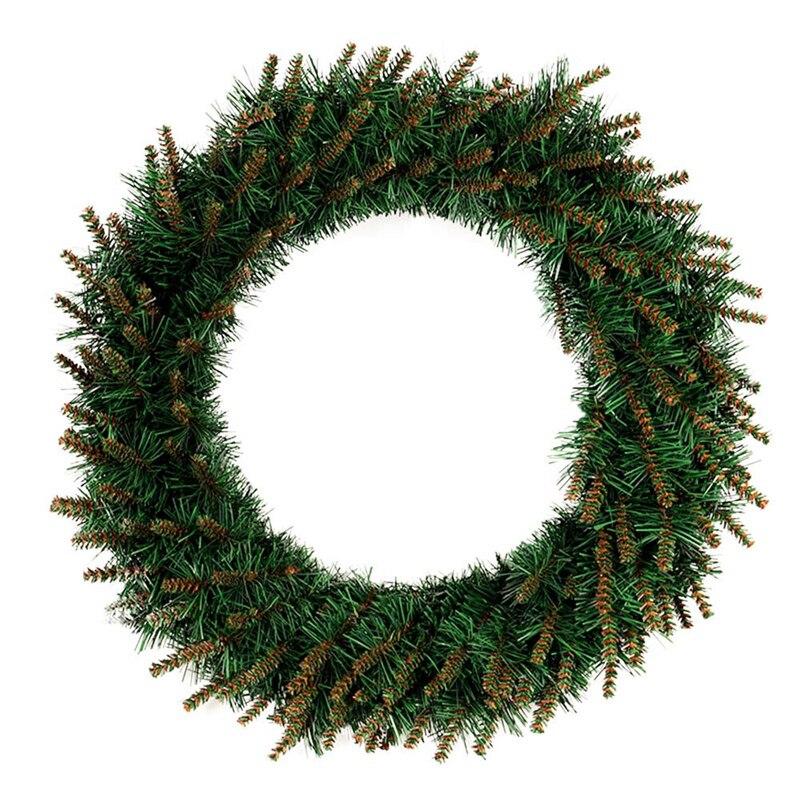1 unidad de guirnalda colgante verde para Navidad, guirnalda decoración para fiesta de Navidad para colgar en la pared